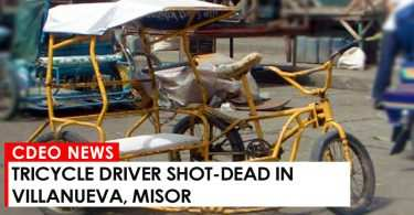 In an article from Bombo Radyo Cagayan de Oro, a tricycle driver was shot in the head which immediately caused his death last Monday night, July 31, in Poblacion, Villanueva, Misamis Oriental. The victim was identified as Richard Maitom, 37 years old and who was allegedly involved in the illegal drug trade. According to Police Investigator PO3 Joel Arquisa, the two unidentified suspects shot the victim in their residence just after Arquisa took dinner. The suspects shot the victim four times in his head using a 45 caliber gun. As of this writing, police are now probing to draw more information on the incident.