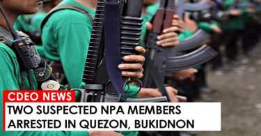 Two suspected NPA members arrested in Quezon, Bukidnon