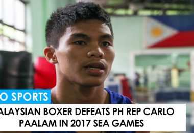 Carlo Paalam defeated in 2017 SEA Games