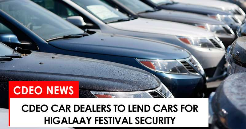 car dealers in cdo to help boost higalaay festival security