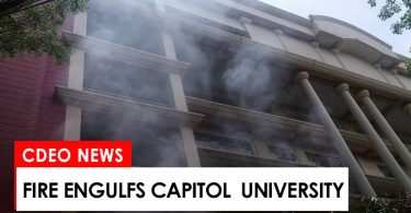 fire engulfs capitol university
