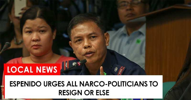 Espenido urges narco-politicians to resign