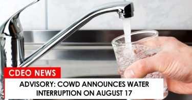Water interruption on August 17