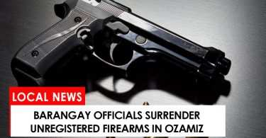 Barangay officials surrendered firearms