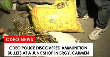 Spent and live ammunition bullets found in junk shop