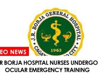 JR Borja Hospital Nurses undergo ocular emergency training