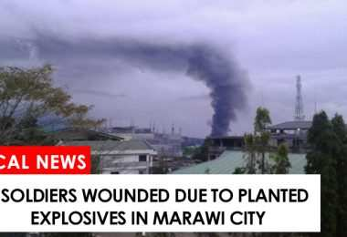 7 soldiers wounded due to planted explosives in Marawi City