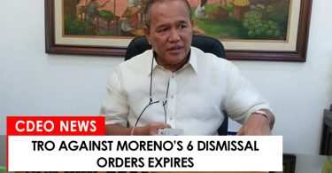 TRO against Moreno's 6 dismissal orders expires