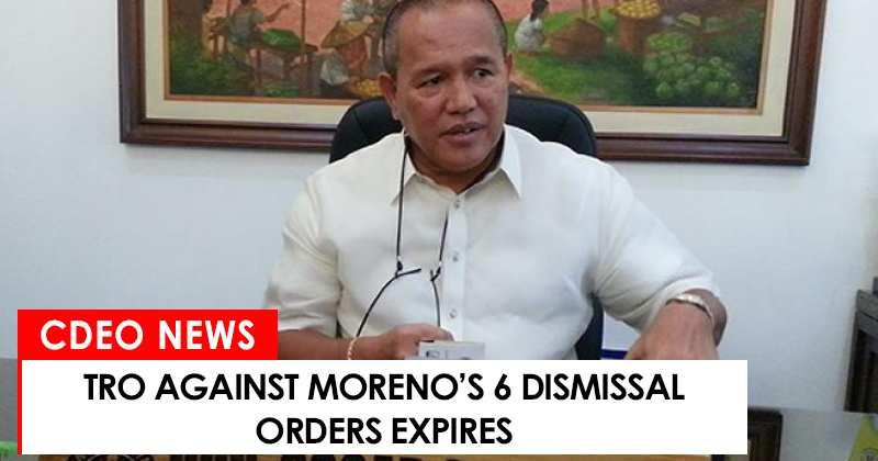 TRO against Moreno's 6 dismissal orders expires