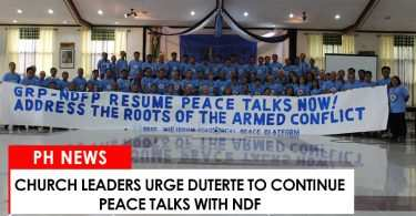 Church leaders urge Duterte to continue peace talks