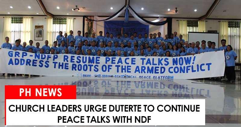 Church leaders urge Duterte to continue peace talks