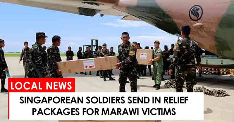 Sinagaporean soldiers send in relief goods for Marawi victims