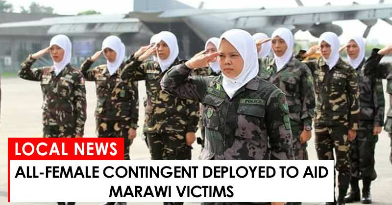 All-female contingent deployed to aid Marawi victims