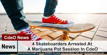 4 Skateboarders Arrested At A Marijuana Pot Session In CdeO