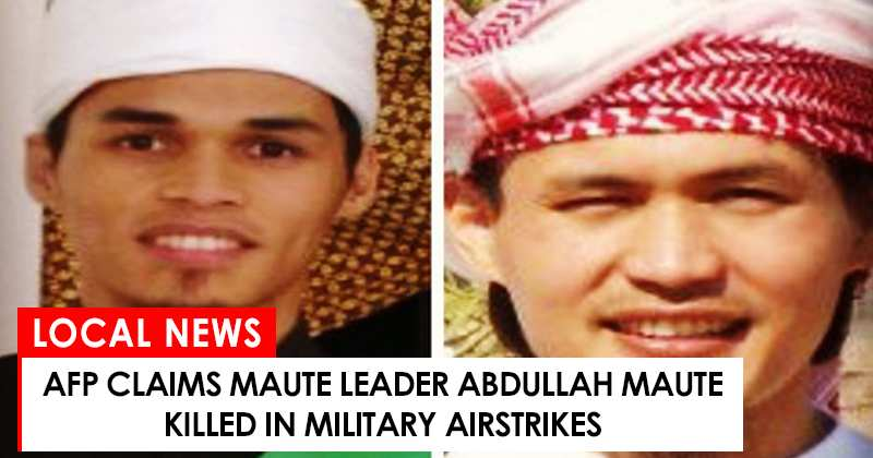 Abdullah Maute killed in Marawi siege says AFP