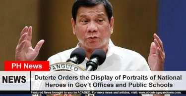 Duterte Orders the Display of Portraits of National Heroes