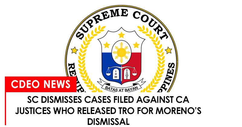 SC dismisses cases filed against CA justices in Mindanao