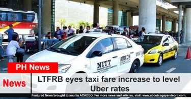 LTFRB to increase taxi fares