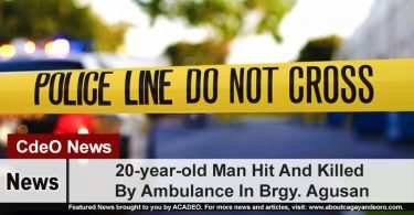 20-year-old Man Hit And Killed By Ambulance In Brgy