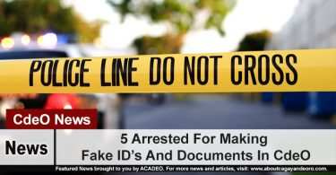 5 Arrested For Making Fake ID's And Documents In CdeO