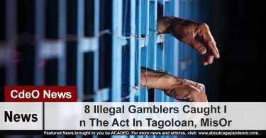 8 Illegal Gamblers Caught In The Act In Tagoloan, MisOr