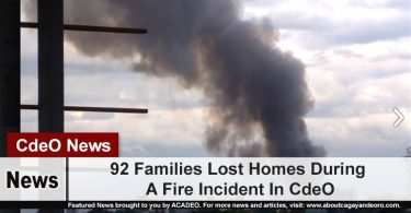 92 Families Lost Homes During A Fire Incident In CdeO