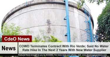 COWD Terminates Contract With Rio Verde; Said No Water Rate Hike In The Next 2 Years With New Water Supplier