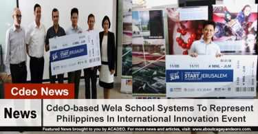 CdeO-based Wela School Systems To Represent Philippines In International Innovation Event