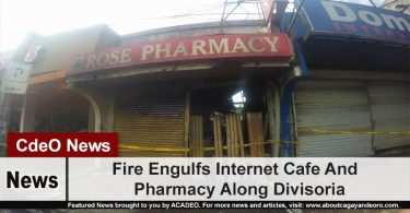 Fire Engulfs Internet Cafe And Pharmacy Along Divisoria