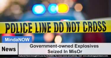 Government-owned Explosives Seized In MisOr