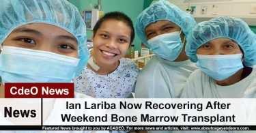 Ian Lariba Now Recovering After Weekend Bone Marrow Transplant