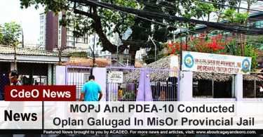 MOPJ And PDEA-10 Conducted Oplan Galugad In MisOr Provincial Jail