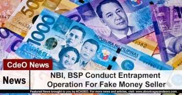 NBI, BSP Conduct Entrapment Operation For Fake Money Seller