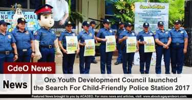 Oro Youth Development Council launched the Search For Child-Friendly Police Station 2017
