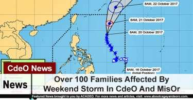 Over 100 families Affected by Weekend Storm in CdeO and MisOr