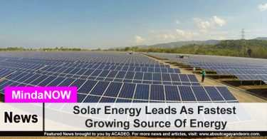 Solar Energy Leads As Fastest Growing Source Of Energy