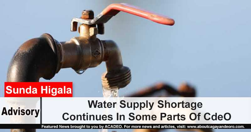 Water Supply Shortage Continues In Some Parts Of CdeO