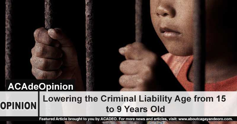 Lowering the criminal liability