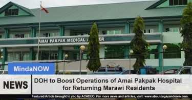 DOH to boost Amai Pakpak Operation