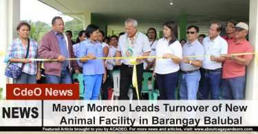 Moreno led the turnover and blessing of CdeO's new animal facility