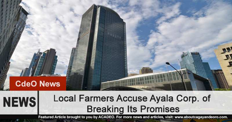 Local Farmers Accuse Ayala Corp. of Breaking Its Promises