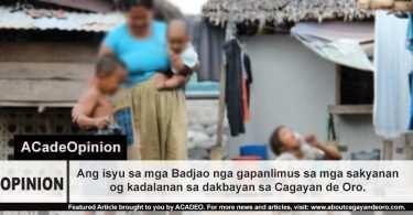 Mga Badjao sa Cagayan de Oro City