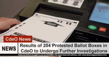 204 Protested Ballot Boxes to Undergo Investigations