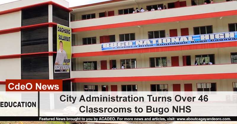 Moreno turns over 46 classrooms to Bugo NHS