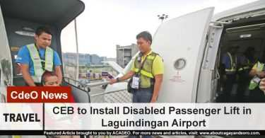 CEB to install Disabled Passenger Lift in Laguindingan Airport