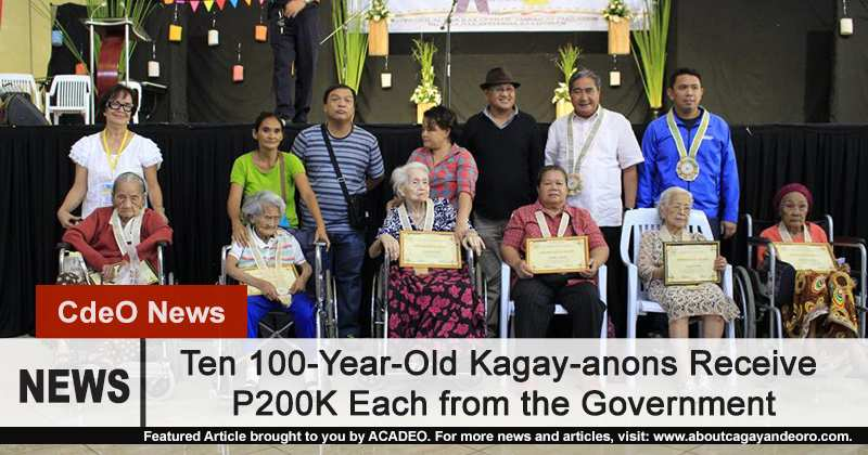 10 100-year-old Kagay-anons receive P200K from the government
