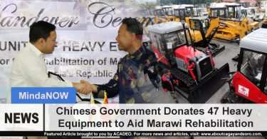 Chinese Government Donates 47 Heavy Equipment to Aid Marawi Rehabilitation