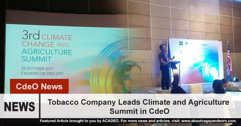 Tobacco Company Leads Climate and Agriculture Summit in CdeO