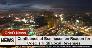 Confidence of Businessmen Reason for CdeO's High Local Revenues