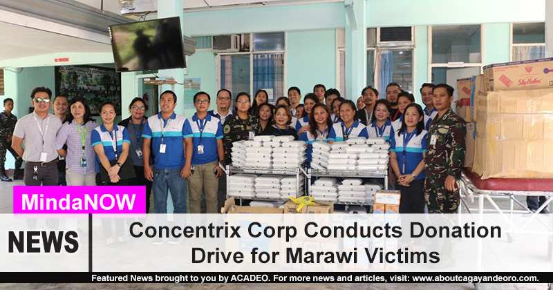 Concentrix Corp conducts donation drive for Marawi victims